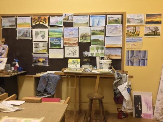 Cours d'aquarelle - Atelier - Ogy