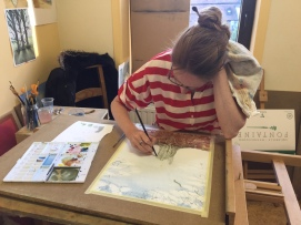 Cours d'aquarelle - Travaux d'élèves